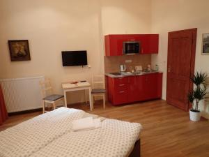 Küche/Küchenzeile in der Unterkunft EPIFANIE - apartments