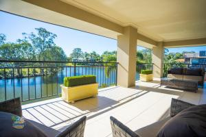 A porch or other outdoor area at Tranquillity on the Lake