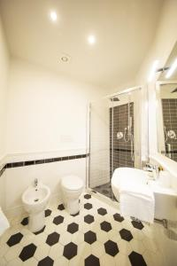 A bathroom at TwoBros Apartment