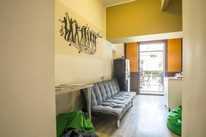 A seating area at Downtown Hostel