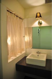 A bathroom at Silverstar Hotel