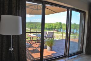 Balkon lub taras w obiekcie Apartament VIP Mrągowo