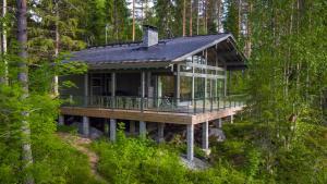 A garden outside Mustikkakallio Luxury Villa