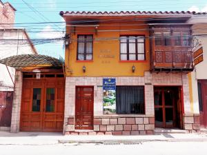 The facade or entrance of Hostal Pachamama