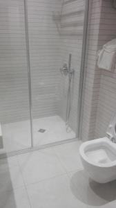 A bathroom at Sea Towers Room
