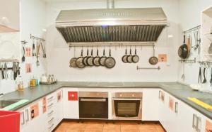 A cozinha ou cozinha compacta de Las Musas Hostel