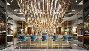 The lounge or bar area at Fairmont Barcelona Rey Juan Carlos I