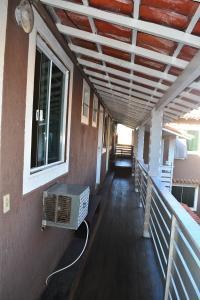 A patio or other outdoor area at Pousada Caravela