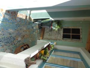 A porch or other outdoor area at les couleurs de l'eau