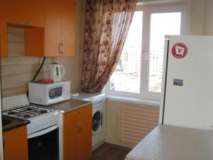 A kitchen or kitchenette at Apartment Gromova