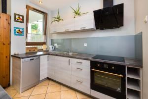 Küche/Küchenzeile in der Unterkunft SAS Apartamenty Baron