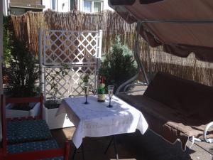 Ein Patio oder anderer Außenbereich in der Unterkunft Ferienwohnung im Wiesenweg