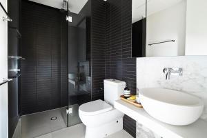 A bathroom at Abode 316