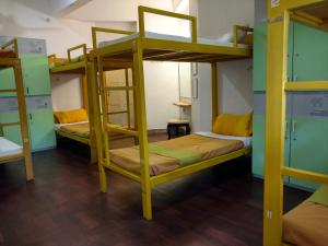 A bunk bed or bunk beds in a room at Happy Camper