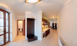 Kuchyňa alebo kuchynka v ubytovaní Rekreačný dom Vyhne