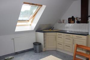 Küche/Küchenzeile in der Unterkunft Ferienwohnung Prenzlau