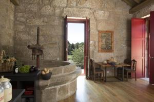 A seating area at Casa Agricola da Levada Eco Village