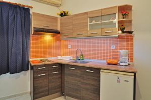 Cuisine ou kitchenette dans l'établissement Mimoza