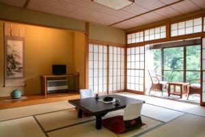 The lounge or bar area at Ryokan Warabino