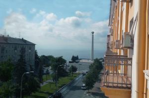 A balcony or terrace at Hotel Volga