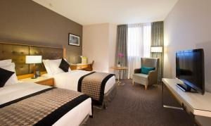 Een kamer bij DoubleTree by Hilton Luxembourg