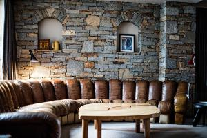 The lounge or bar area at Hôtel des Trois Vallées