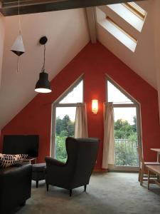 Ein Sitzbereich in der Unterkunft Casa Manderscheid