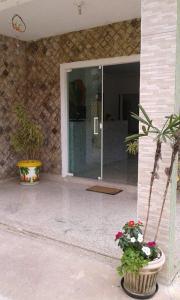 Uma varanda ou outra área externa em Canarios Hostel