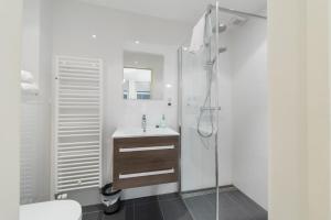 Een badkamer bij Boogaards Bed and Breakfast