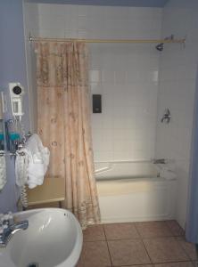 Salle de bains dans l'établissement Motel les Pins
