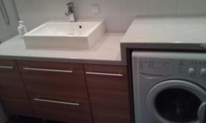 A kitchen or kitchenette at New Danube Flat