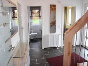 Ein Badezimmer in der Unterkunft Ferienhaus Waldfee