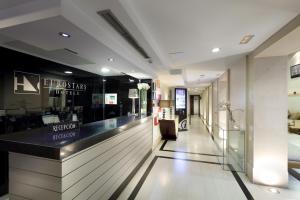 El vestíbulo o zona de recepción de Eurostars Gran Via