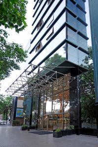 Un patio o zona al aire libre en MR Apart Providencia (ex Apart Neruda)
