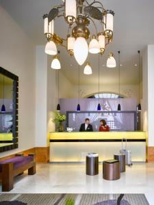 The lobby or reception area at K+K Hotel Central