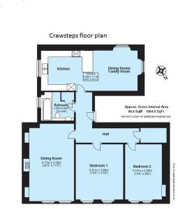 The floor plan of Crawsteps