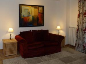 A seating area at La Fermette at Les Lavandes