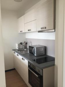 Küche/Küchenzeile in der Unterkunft Résidence Sparrow