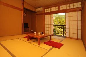 A seating area at Minshuku Miyama