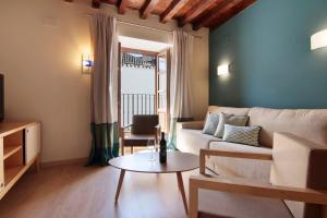 Uma área de estar em Bibo Casa de los Neveros