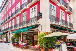 A patio or other outdoor area at Rossio Garden Hotel
