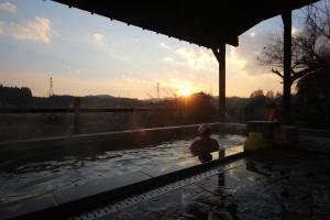 The swimming pool at or close to Kagoiwa Onsen Ryokan