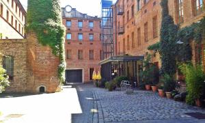 A porch or other outdoor area at Hotel Fabrik Wien