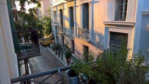 Een balkon of terras bij Village under the Acropolis