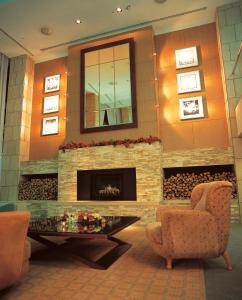The lobby or reception area at Hotel Tangram