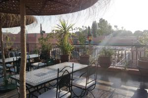 A porch or other outdoor area at Riad Hôtel Marraplace