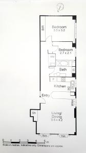 The floor plan of CBD Little Paris - StayCentral