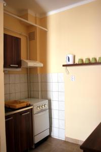 A kitchen or kitchenette at Veva Apartman - Eger Magánszálláshely