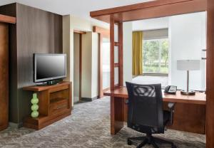 A seating area at SpringHill Suites Long Island Brookhaven