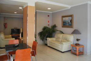 Zona de estar de Hotel Plaza